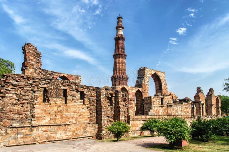Qutub Minar. Complex, Delhi, India stock images