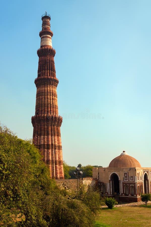 Qutub Minar, Delhi, Indien lizenzfreies stockfoto