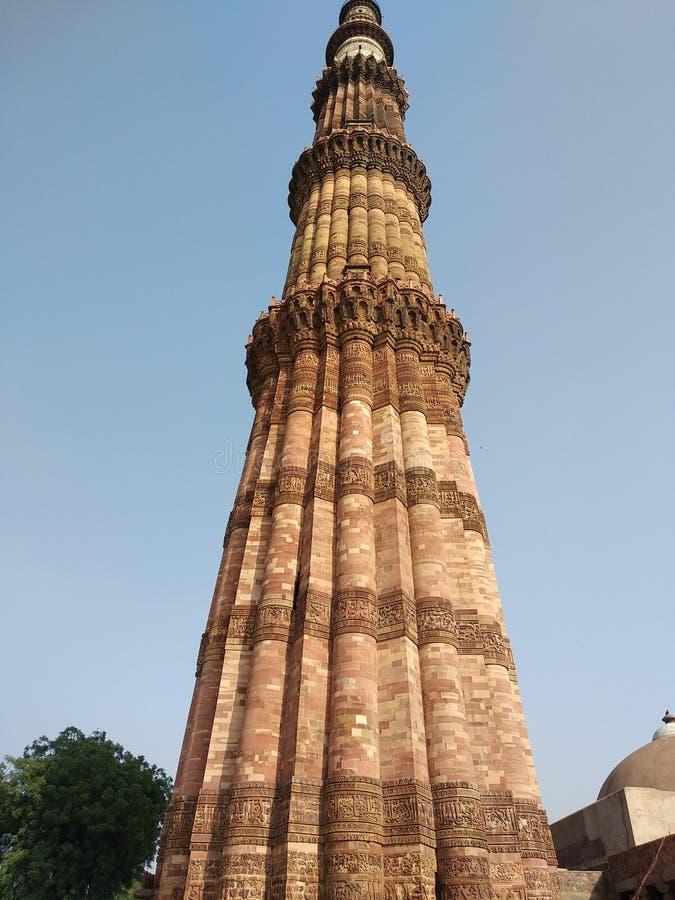 Qutub Minar. Delhi, old, historical royalty free stock photos