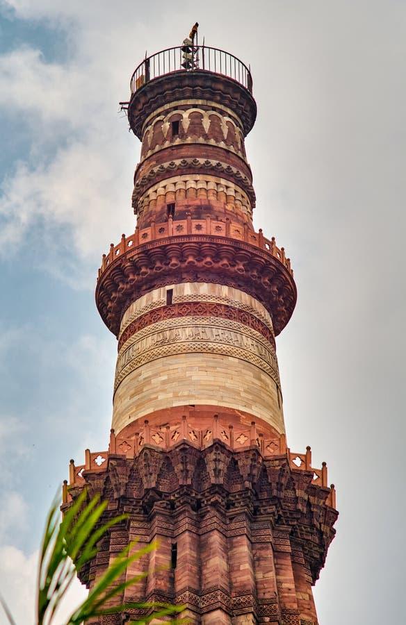 Qutub Minar i New Delhi, Indien arkivfoto