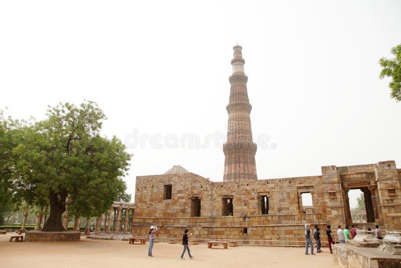 Qutub Minar ist der höchste Ziegelstein, der in der Welt minar ist stockbilder