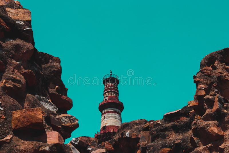 Qutub minar monument Delhi India stock fotografie