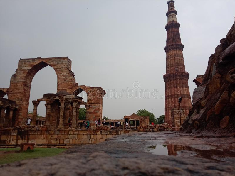 Qutub minar. Is one of the best historical place in india stock photography