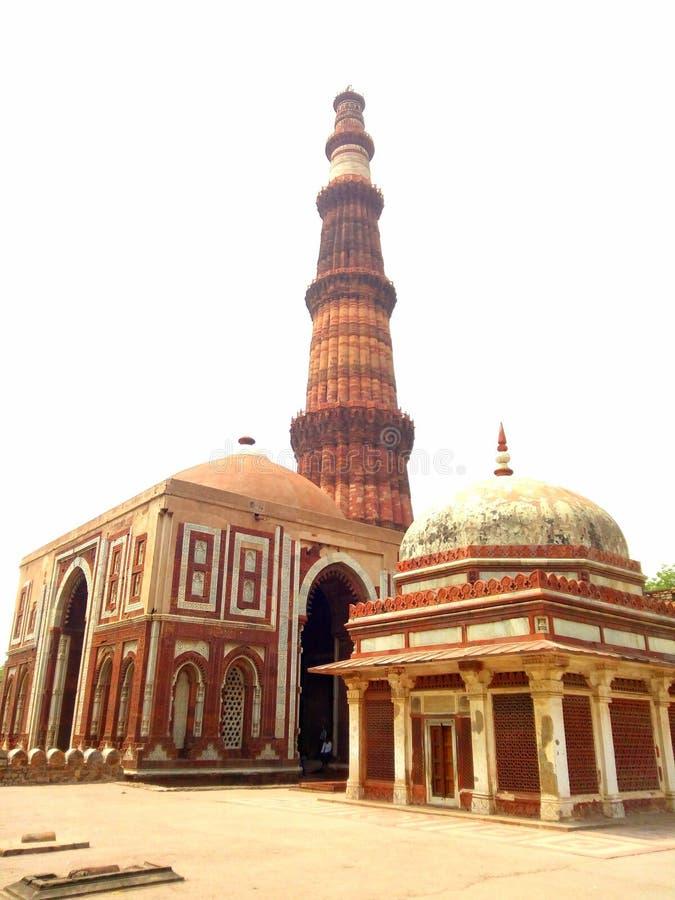 Qutub minar. Photo captured by mobile stock photos