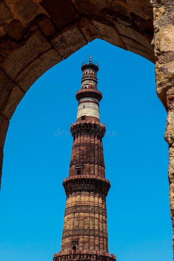 Qutub minar. India, monument, architecture royalty free stock image