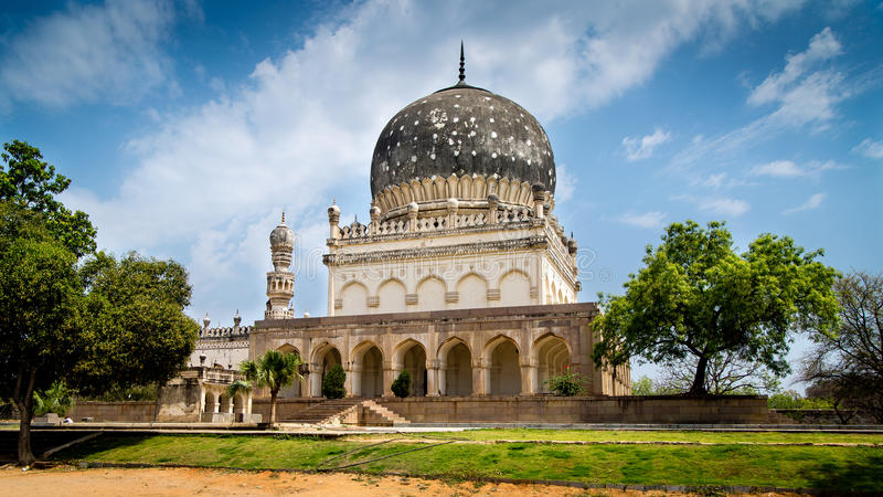 Qutub Shahi Tombs, Hyderabad. The tombs of the seven Qutub Shahi rulers in Ibrahim Bagh, Hyderabad are located close to the famous Golkonda Fort royalty free stock images