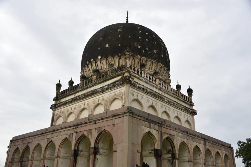 Qutubshahi坟茔,海得拉巴, Telengana,印度 免版税库存照片