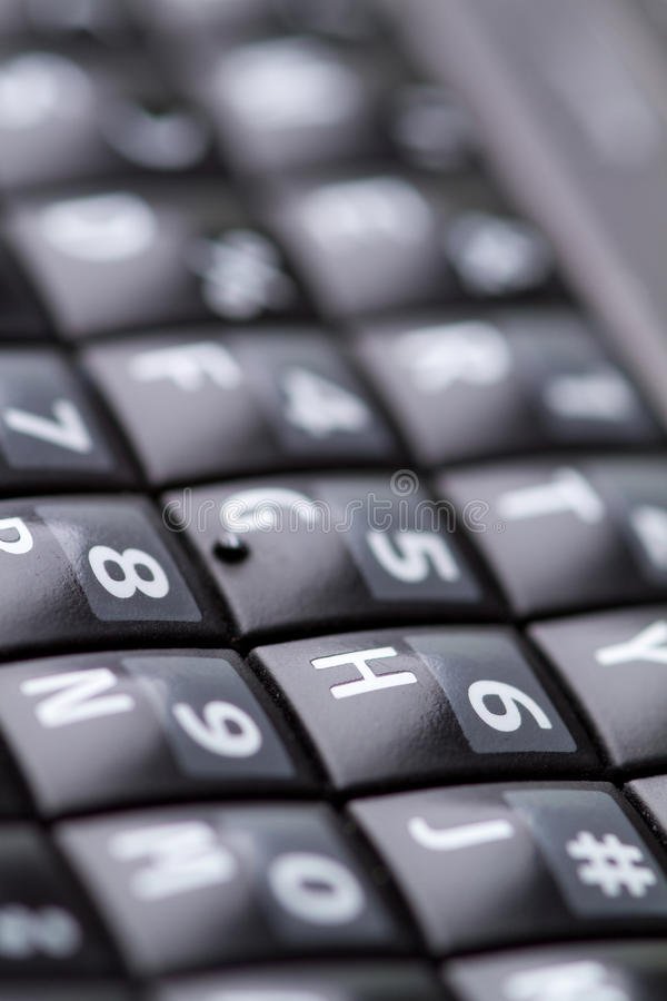 Download Qwerty Keypad From Cellphone Stock Image - Image: 19145889