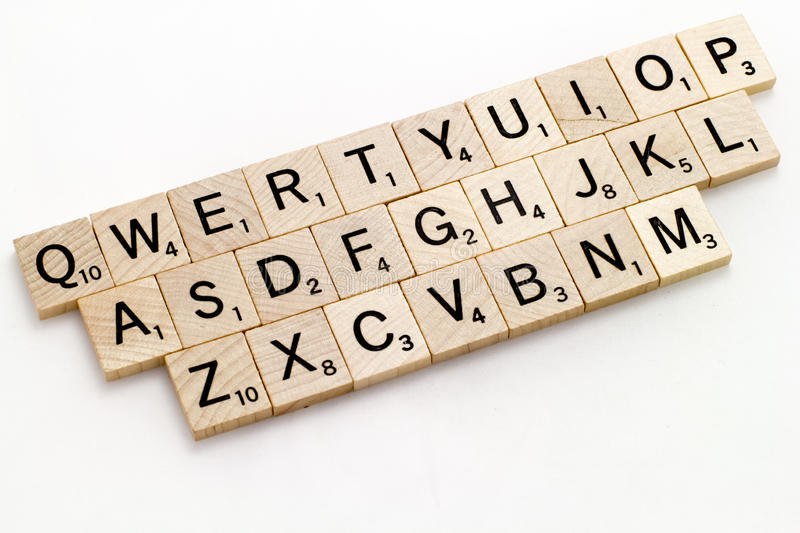 Qwerty Scrabble Keyboard royalty free stock photos