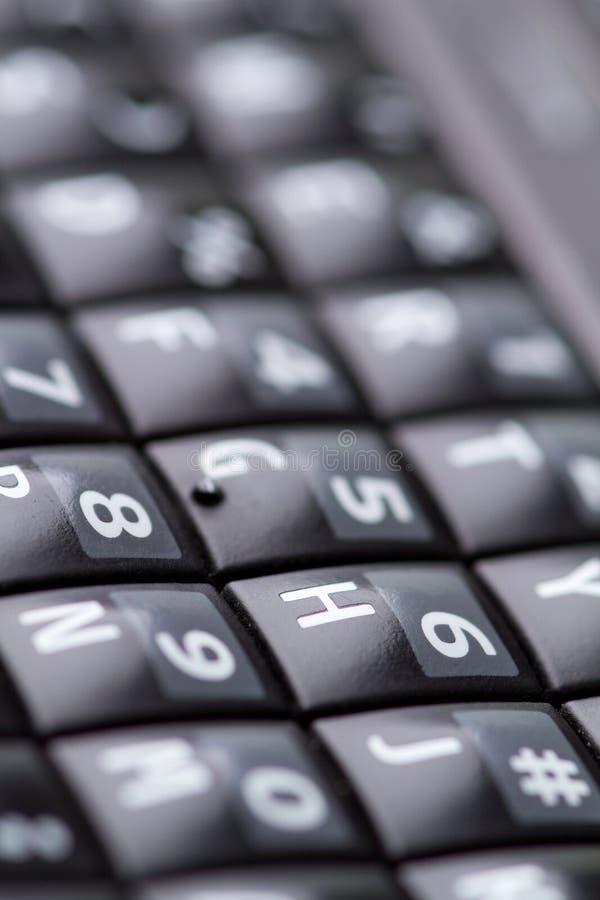 QWERTYtastaturblock vom Mobiltelefon lizenzfreie stockbilder
