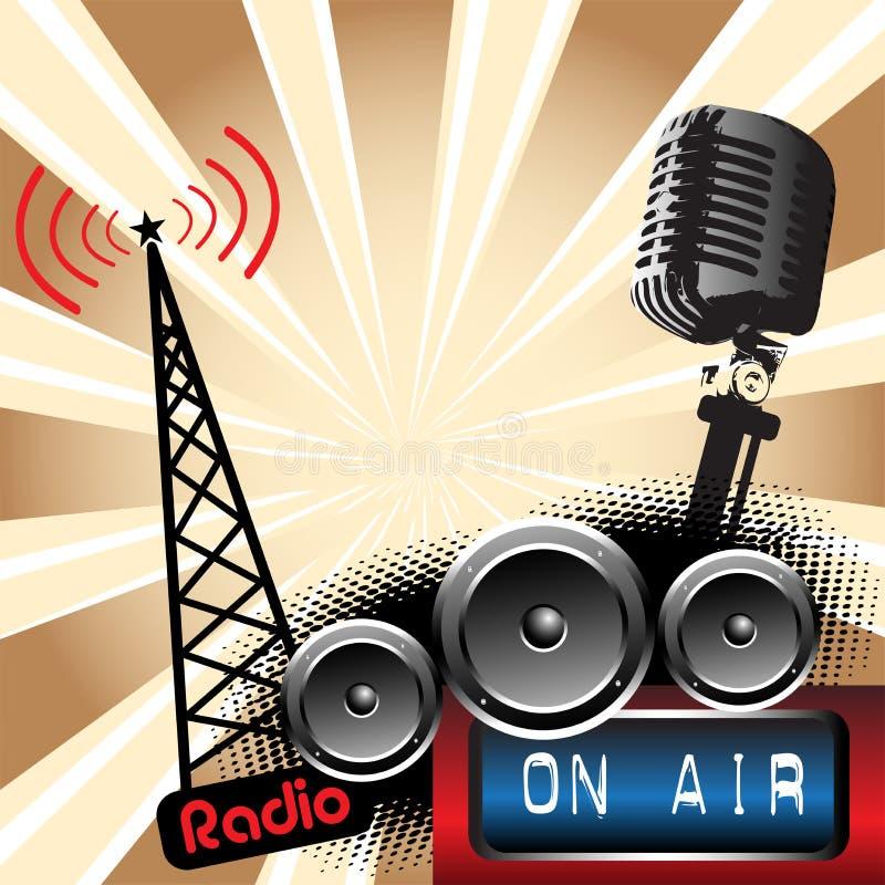 Rádio ilustração royalty free