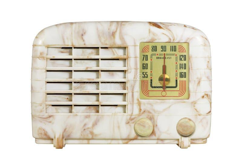 Rádio antigo 06 da baquelite imagem de stock