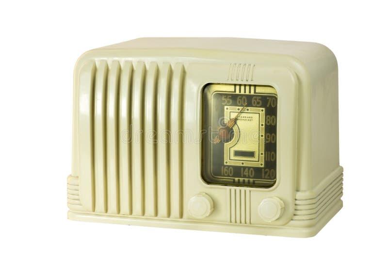 Rádio antigo 05 do tubo da baquelite imagem de stock royalty free