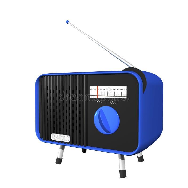 Rádio azul ilustração do vetor
