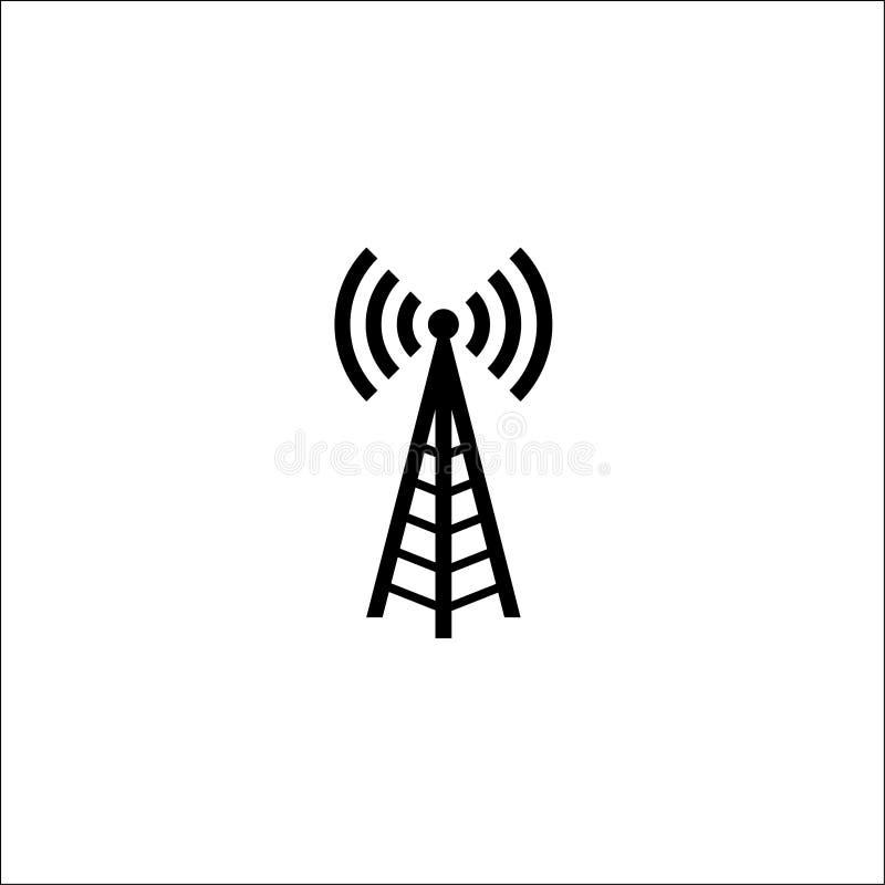 rádio da antena de rádio da ilustração Antena de rádio do sinal da tecnologia e da rede ilustração royalty free