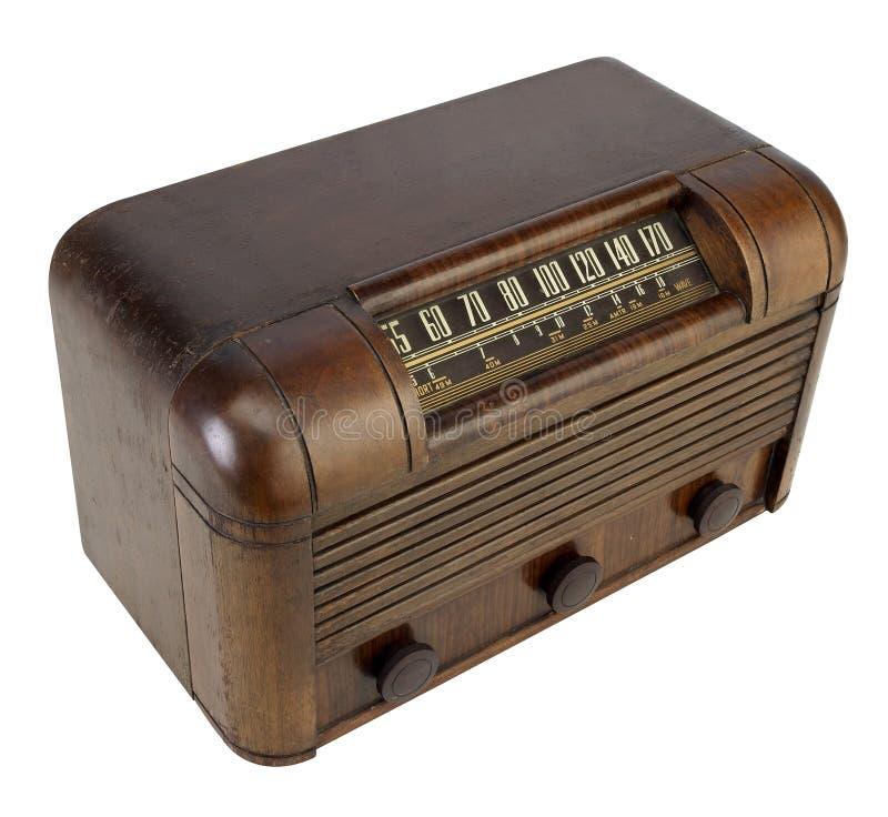 Rádio da câmara de ar do vintage foto de stock royalty free