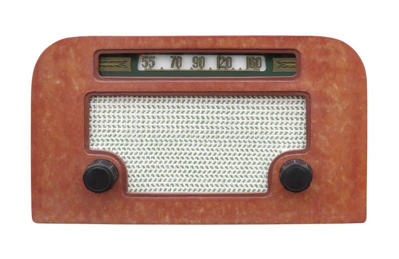 Rádio da tabela do vintage isolado imagem de stock