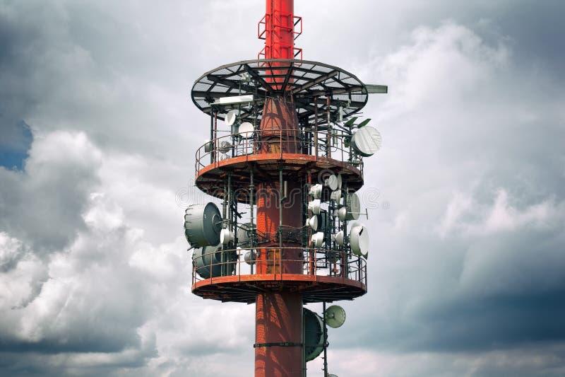 Rádio da transmissão/torre tele fotos de stock royalty free