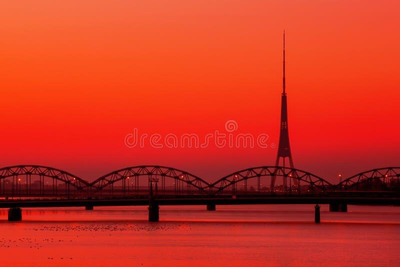 Rádio de Riga e torre da tevê imagem de stock royalty free