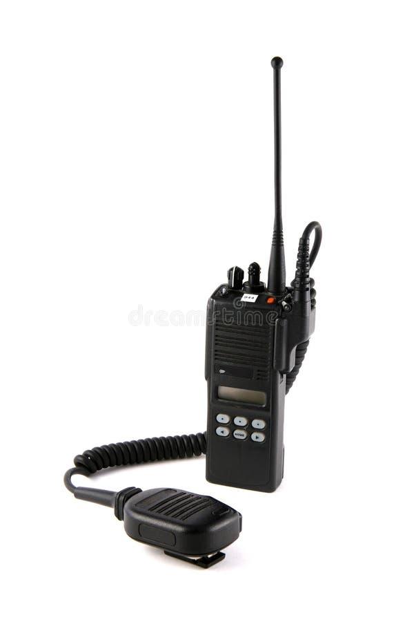 Rádio de uma comunicação da polícia imagens de stock