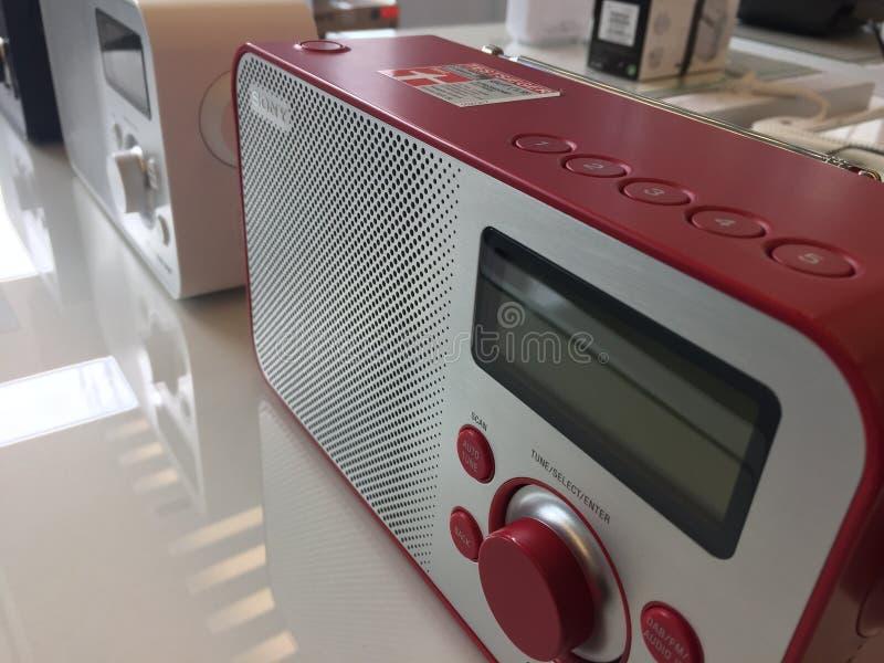 Rádio digital de Sony foto de stock