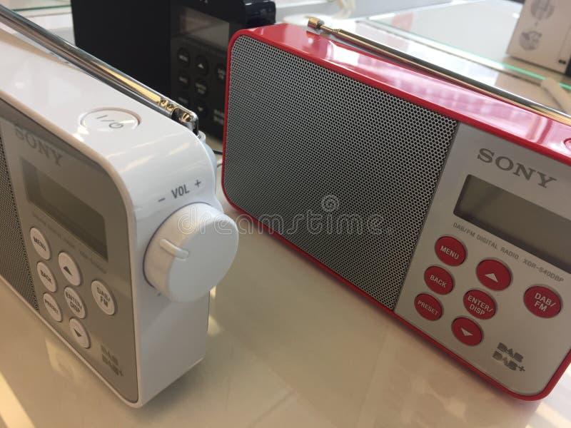 Rádio digital de Sony imagem de stock royalty free