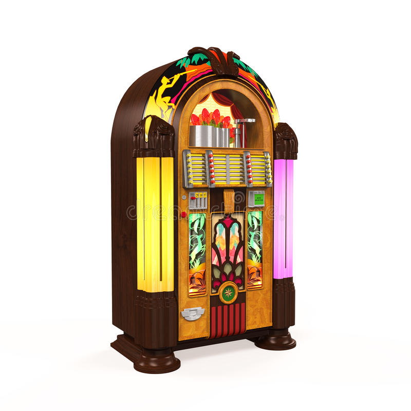 Rádio do jukebox ilustração stock