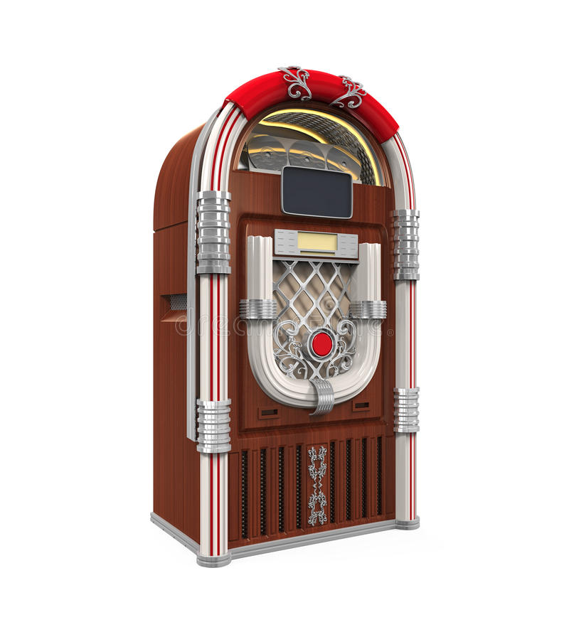 Rádio do jukebox ilustração do vetor