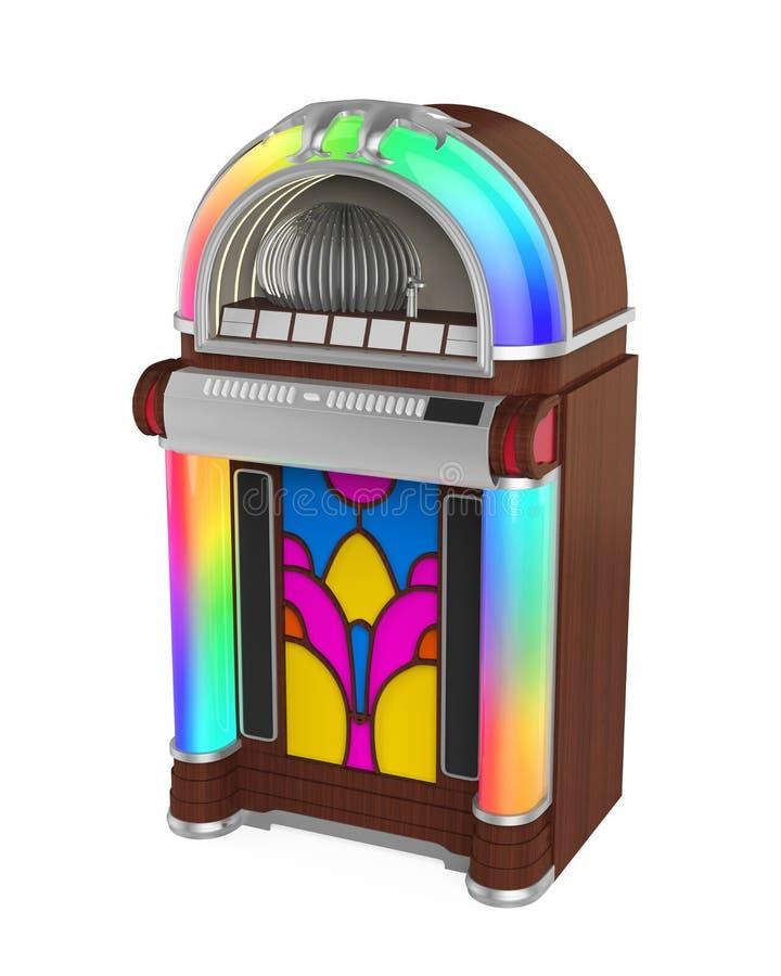 Rádio do jukebox do vintage ilustração royalty free