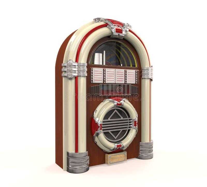 Rádio do jukebox isolado foto de stock
