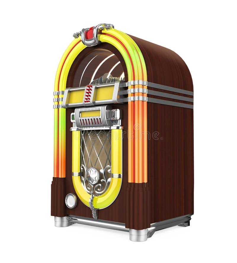 Rádio do jukebox do vintage isolado ilustração royalty free