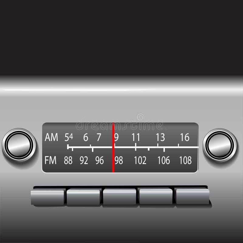 Rádio do painel do carro do AM FM ilustração royalty free