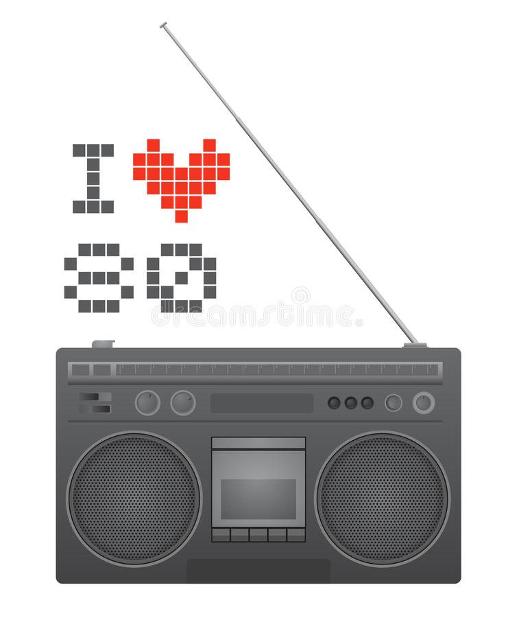 Rádio do vintage ilustração royalty free