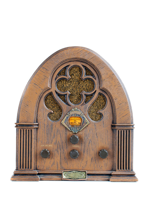 Rádio do vintage AM/FM imagens de stock royalty free