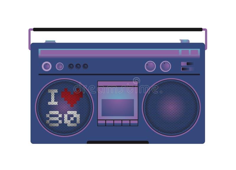 Rádio do vintage ilustração stock