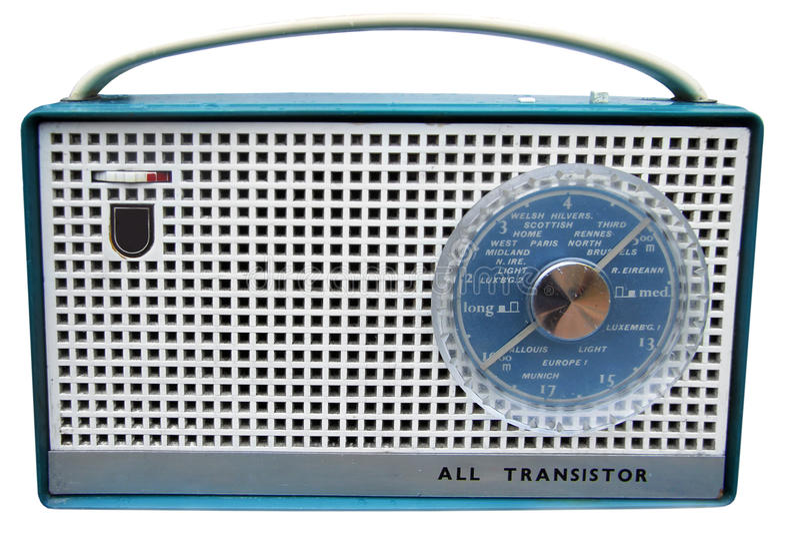 Rádio dos anos sessenta fotografia de stock