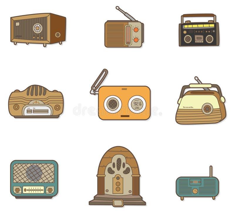 Rádio dos desenhos animados ilustração royalty free