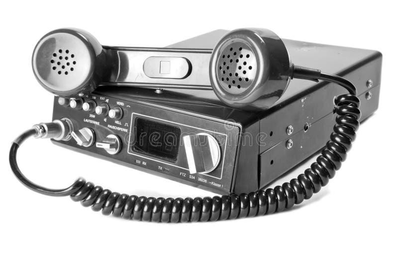 Rádio em dois sentidos velho foto de stock