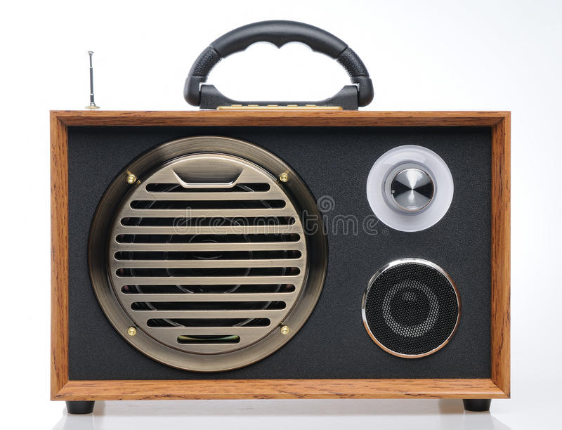Rádio formado vintage imagens de stock royalty free