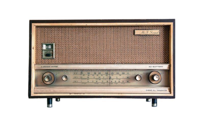 Rádio formado vintage foto de stock royalty free