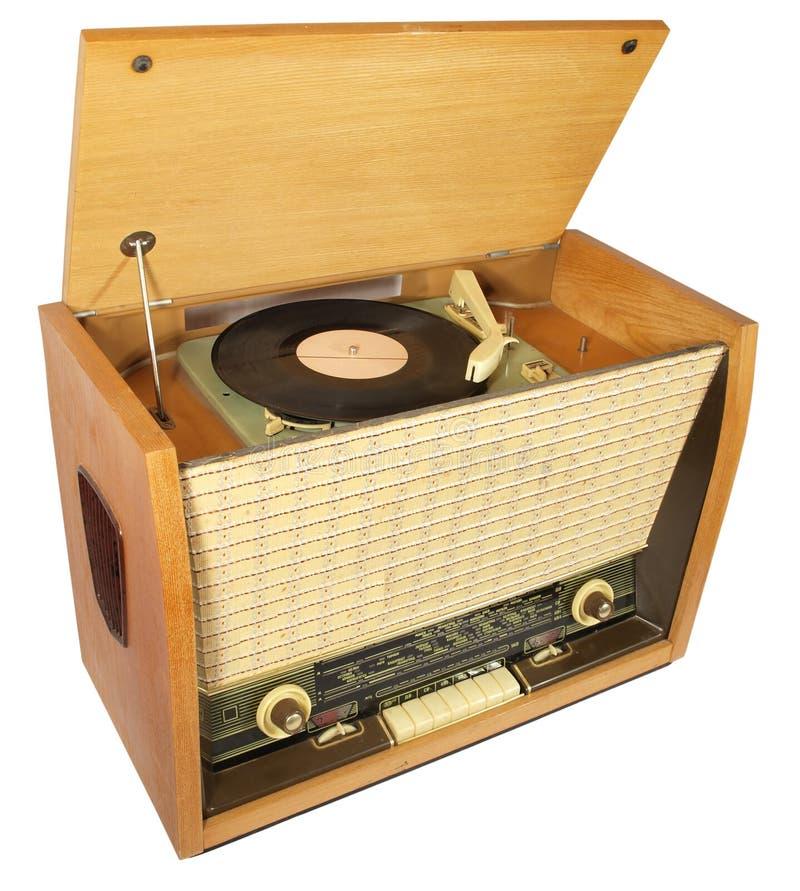 Rádio-gramofone do vintage imagens de stock royalty free