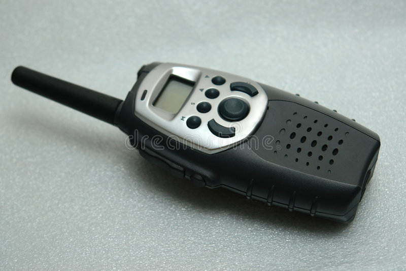 Rádio handheld da freqüência ultraelevada imagens de stock royalty free
