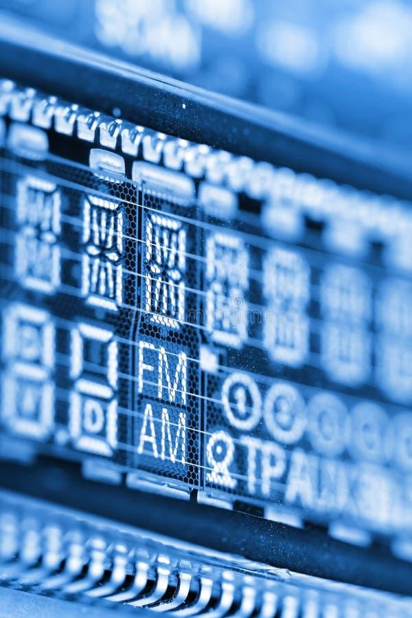 Rádio LCD fotografia de stock