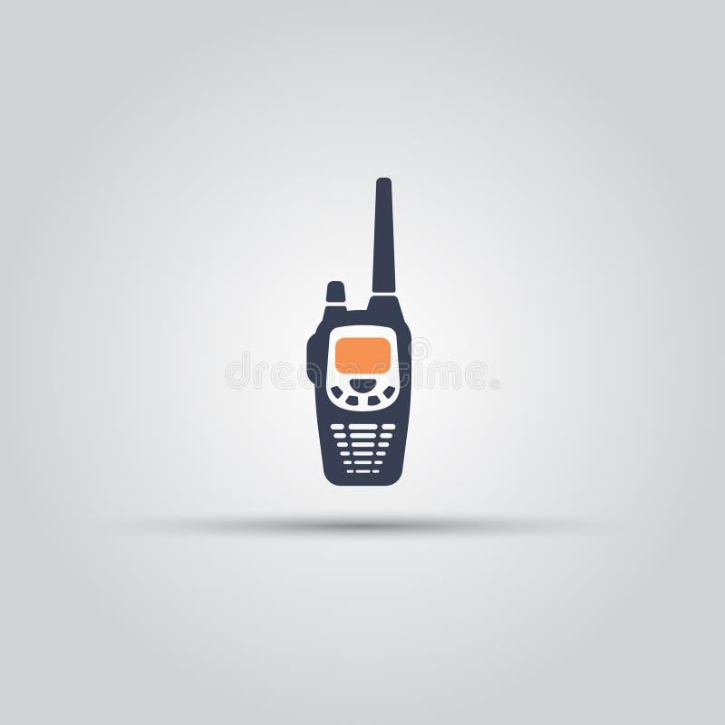 Rádio móvel ícone isolado do vetor ilustração royalty free