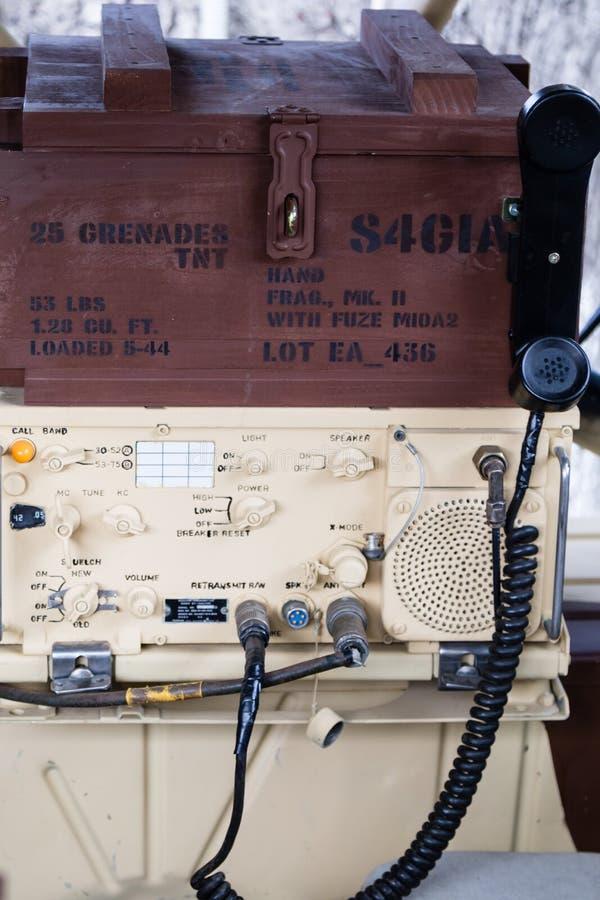 Rádio militar imagem de stock