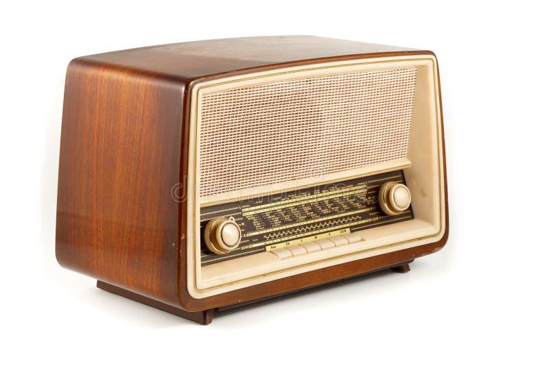 Rádio retro de Brown imagem de stock royalty free