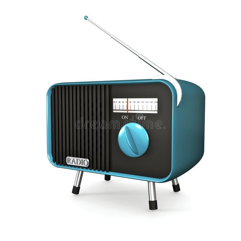 Rádio retro de turquesa ilustração royalty free
