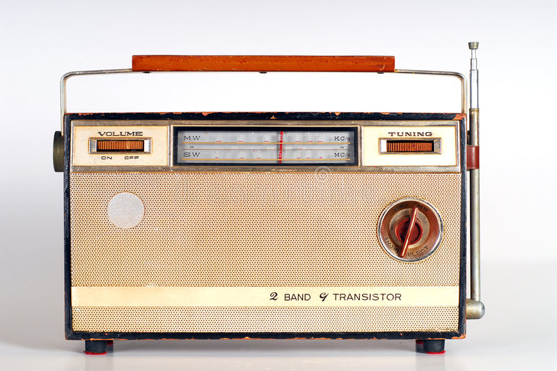 Rádio retro do vintage fotografia de stock