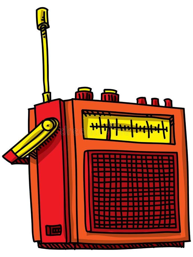 Rádio retro dos desenhos animados ilustração do vetor
