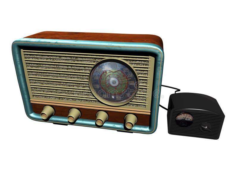 Rádio velho ilustração royalty free